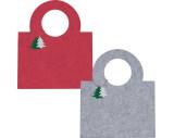Felt bag with fir tree pendant