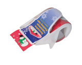 Adhesive ribbon in dispenser
